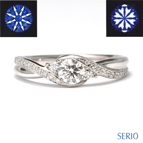 H&C(ハートアンドキューピット)の天然石ダイヤを使用した豪華な婚約指輪