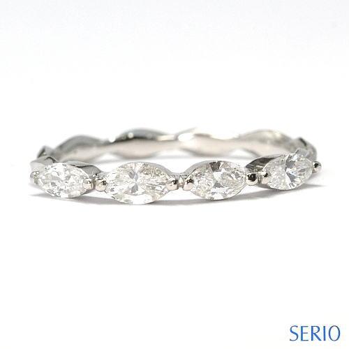 マーキスカットダイヤを使用したフルオーダーメイド・婚約指輪と結婚指輪